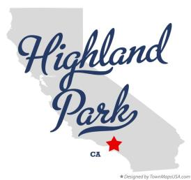 map_of_highland_park_ca